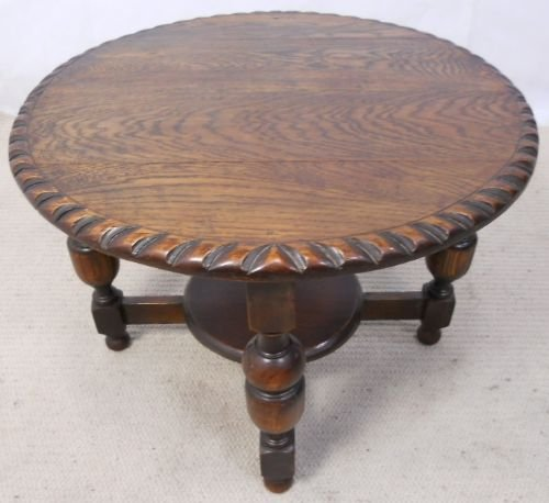 Antique Coffee Table Uk: Antique Style Round Oak Coffee Table