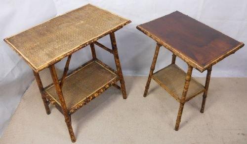 two victorian bamboo occasional tables - Two Victorian Bamboo Occasional Tables 163817 Sellingantiques.co.uk