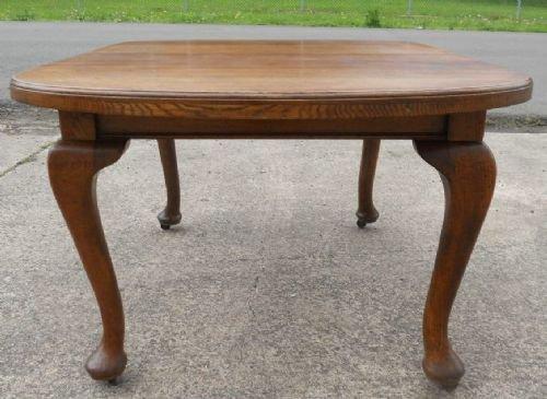 Queen Anne Style Oak Dining Table 164879  : dealertharrisonfull1336946563508 3058588674 from www.sellingantiques.co.uk size 500 x 365 jpeg 38kB