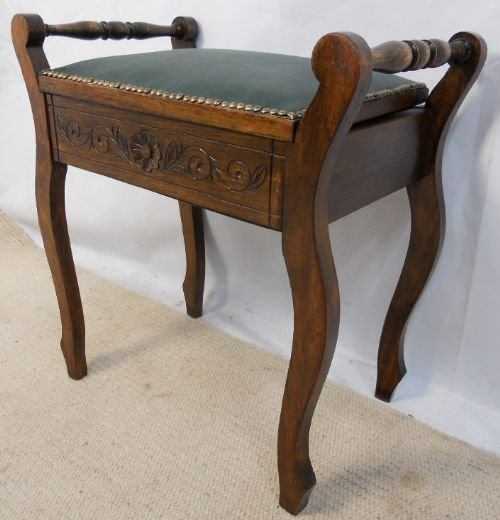 page load time 0.15 seconds - Edwardian Carved Walnut Piano Stool 172924 Sellingantiques.co.uk