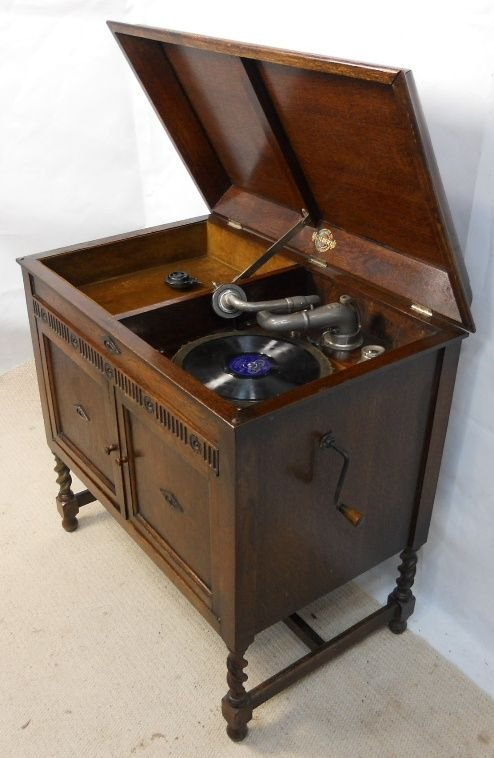 page load time 0.19 seconds - Oak Cased Gramophone Cabinet By Gilbert 175414 Sellingantiques.co.uk