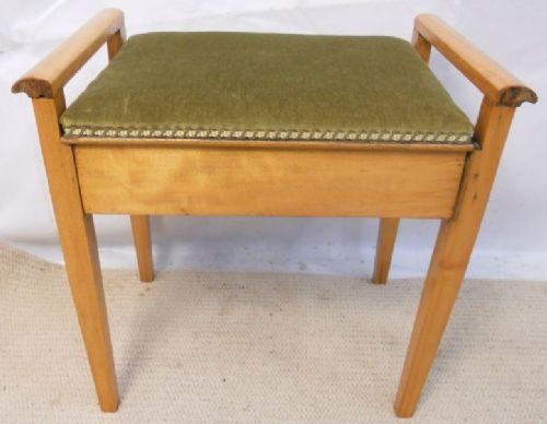 edwardian light wood piano stool & Edwardian Light Wood Piano Stool | 176326 | Sellingantiques.co.uk islam-shia.org