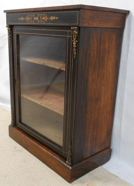 page load time 0.32 seconds & Victorian Small Inlaid Ebonized Display Cabinet | 177549 ...