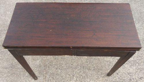 georgian mahogany foldover tea table 179429 sellingantiques co uk