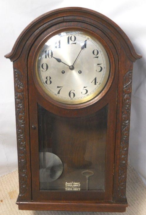 chiming mahogany hanging wall clock