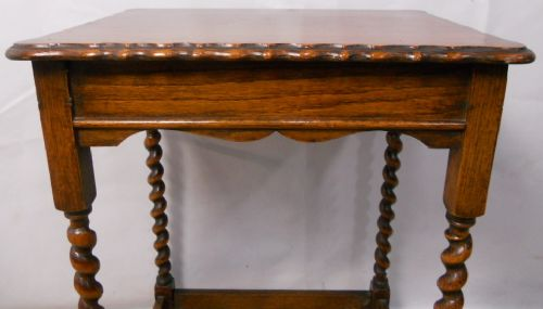 barley twist oak occasional table - photo angle #3