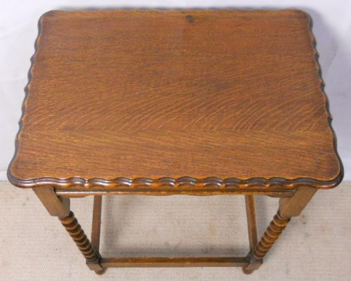 barley twist oak occasional table - photo angle #10