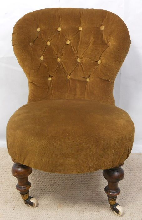 Victorian Small Upholstered Nursing Chair | 198287 | Sellingantiques.co.uk