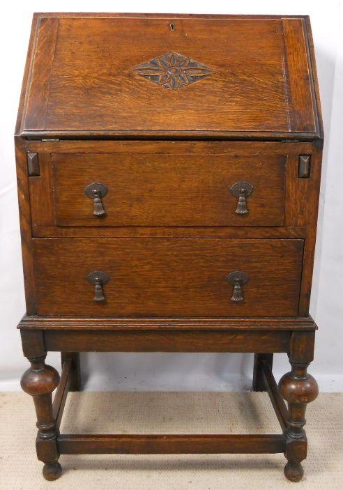small oak writing bureau 202726 sellingantiques co uk