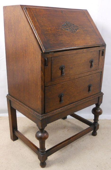 small oak writing bureau 202726. Black Bedroom Furniture Sets. Home Design Ideas