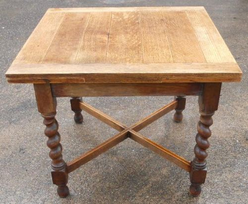 Oak Barley Twist Extending Dining Table