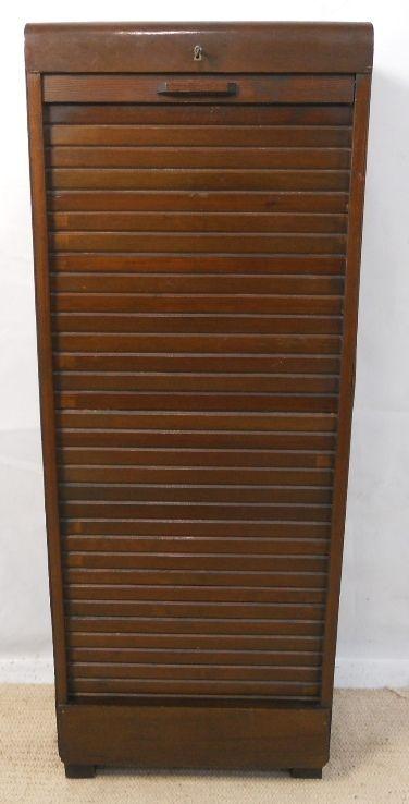 Roller Shutter Filing Cabinet | 208250 | Sellingantiques.co.uk