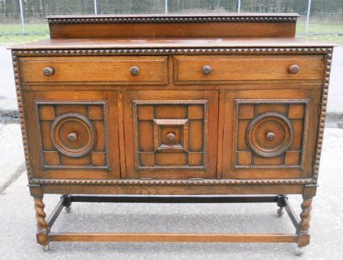 Oak Jacobean Style Sideboard 215065 Sellingantiques Co Uk