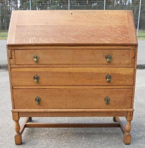 light oak writing bureau 215616