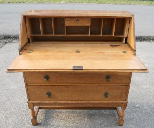 light oak writing bureau 215616 sellingantiques co uk