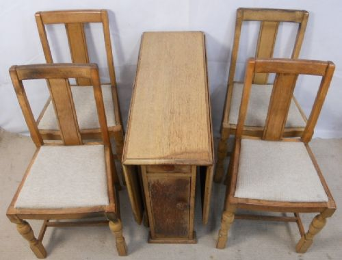 Light oak dropleaf dining table matching chairs 216251 for Light oak dining furniture