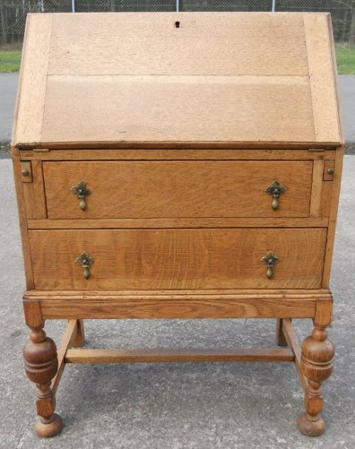 light oak writing bureau 217538 sellingantiques co uk