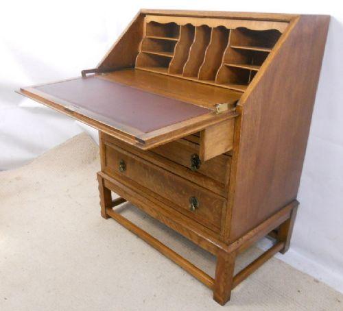 quality light oak writing bureau 221271. Black Bedroom Furniture Sets. Home Design Ideas