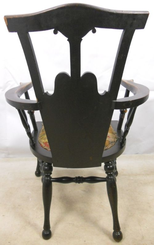 art nouveau inlaid mahogany armchair - photo angle #9