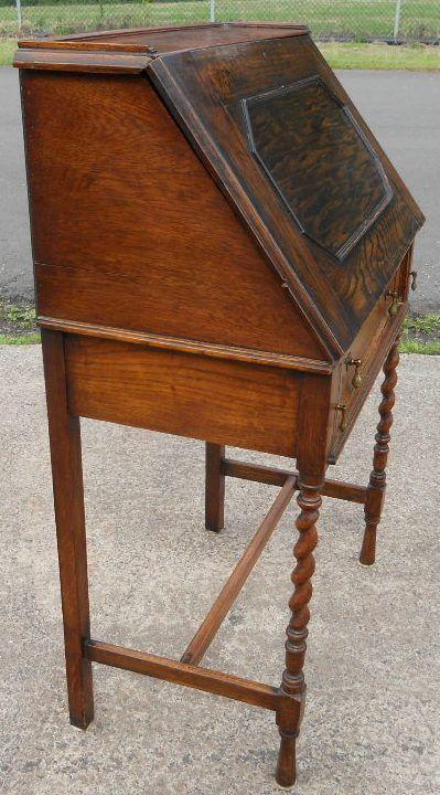 oak ladies writing bureau 235795. Black Bedroom Furniture Sets. Home Design Ideas