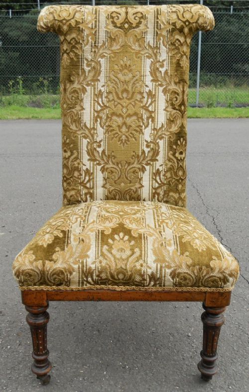 Victorian Upholstered Prayer Chair 239071
