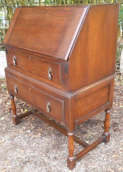 oak writing bureau 301754. Black Bedroom Furniture Sets. Home Design Ideas