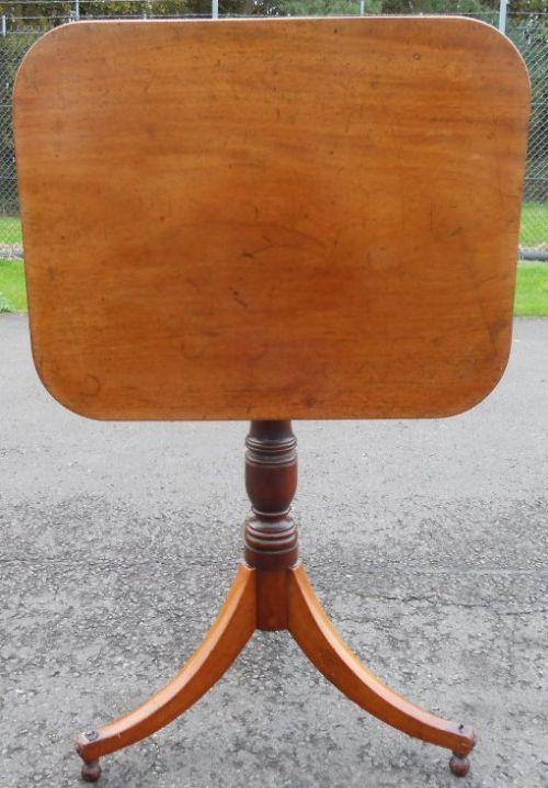 georgian mahogany tilt top tripod table