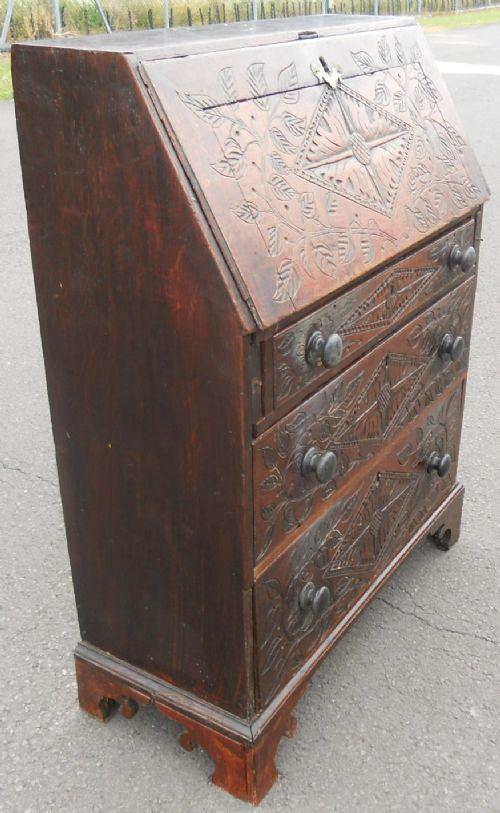 georgian small oak writing bureau 353130. Black Bedroom Furniture Sets. Home Design Ideas