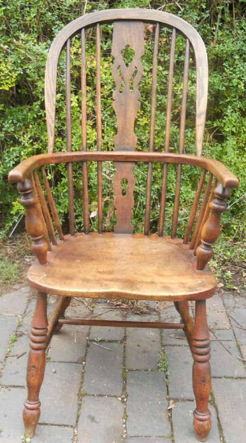 antique windsor elm kitchen armchair