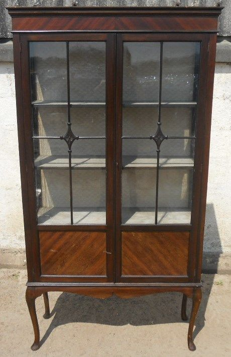 Well Presented Glass China Cabinet Dated 1870 Antique Furniture