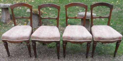 set of four edwardian mahogany dining chairs