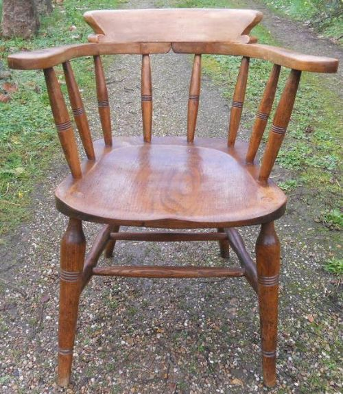 victorian elm smokers bow armchair