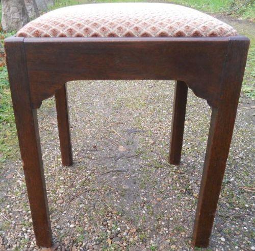 georgian small mahogany stool