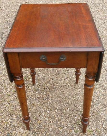 victorian small mahogany dropleaf pembroke table