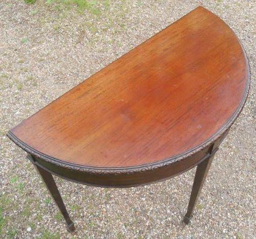 edwardian mahogany fold over card table