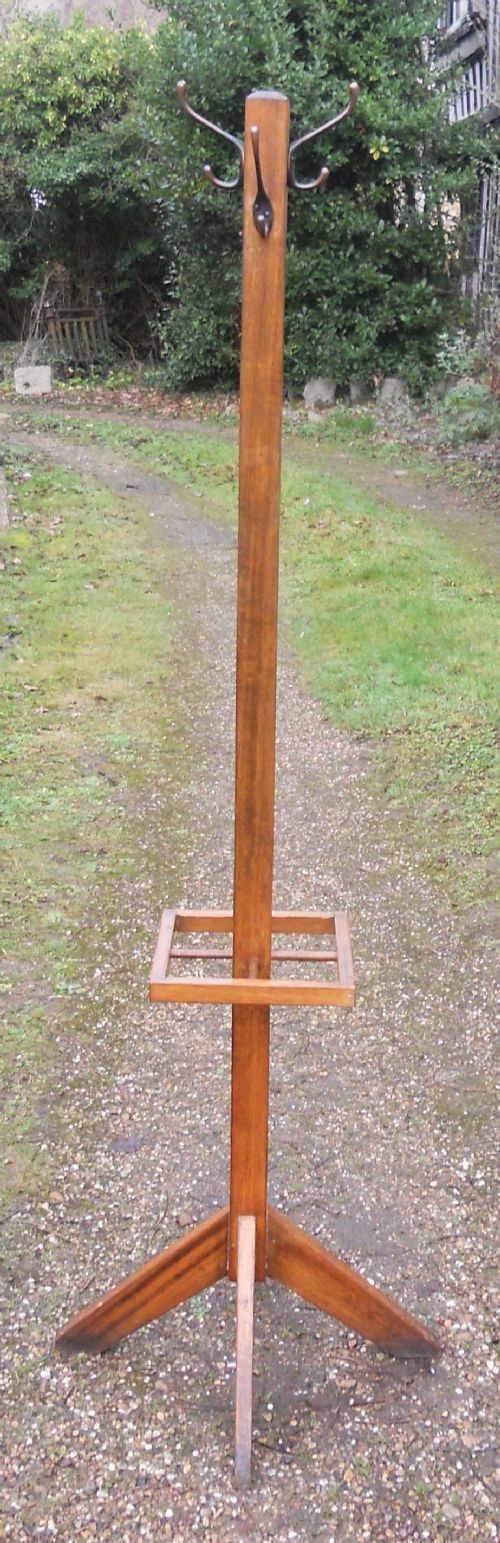 oak tripod coat stick stand