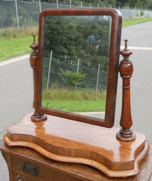 victorian large mahogany dressing mirror