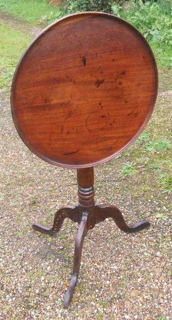 georgian mahogany dish top tripod table