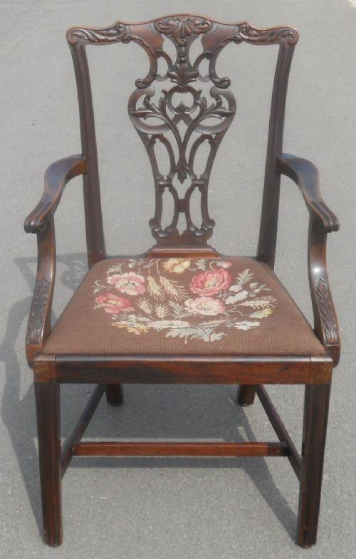 georgian style mahogany carver armchair by jas shoolbred