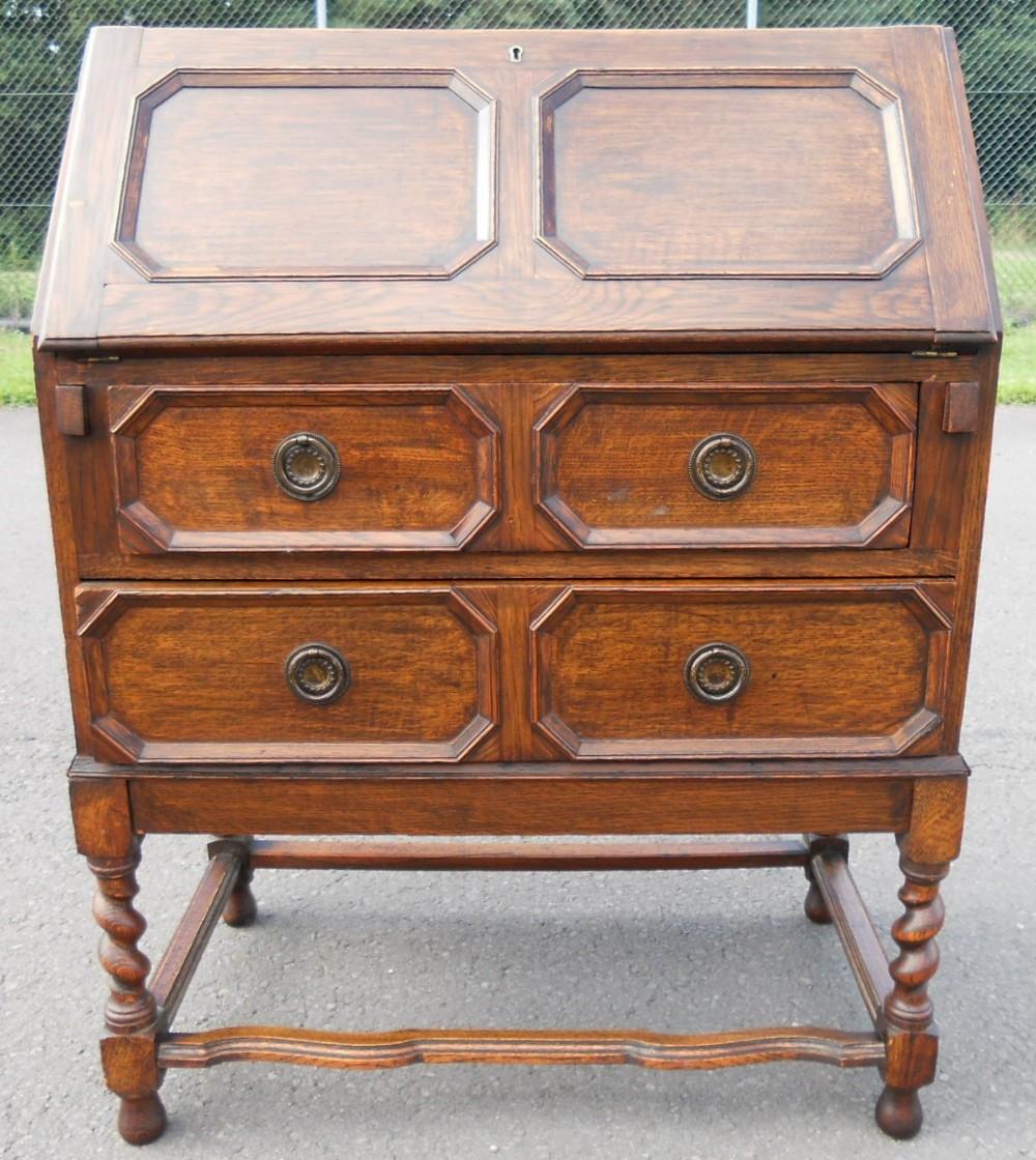 jacobean style oak writing bureau 237432. Black Bedroom Furniture Sets. Home Design Ideas