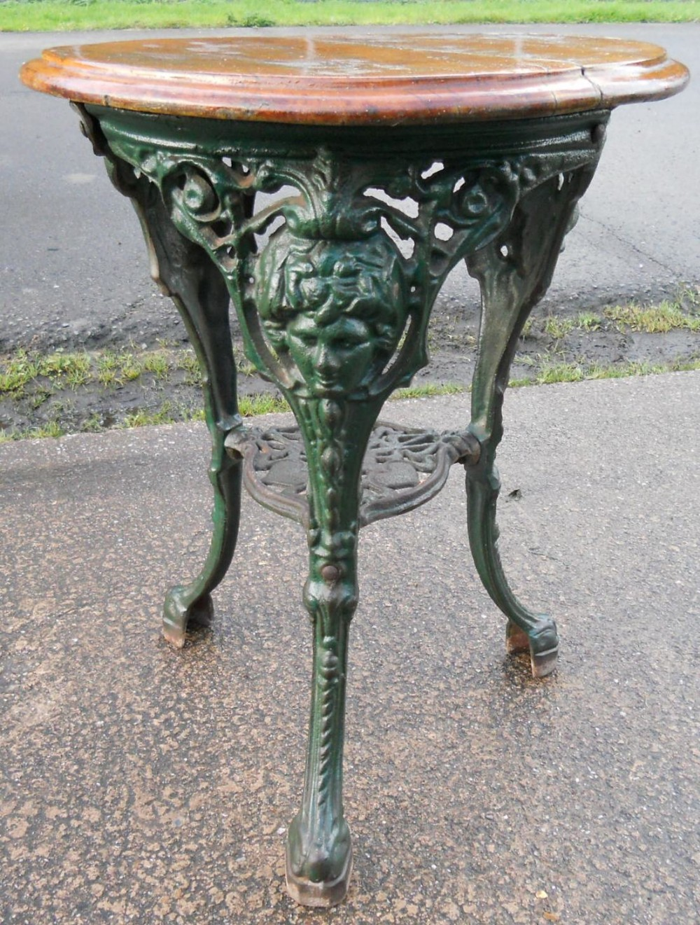 Victorian Cast Iron Pub Table