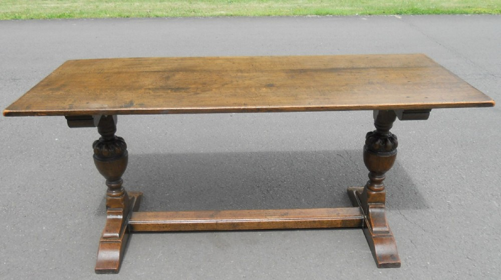 Antique Style Oak Refectory Dining Table 353129