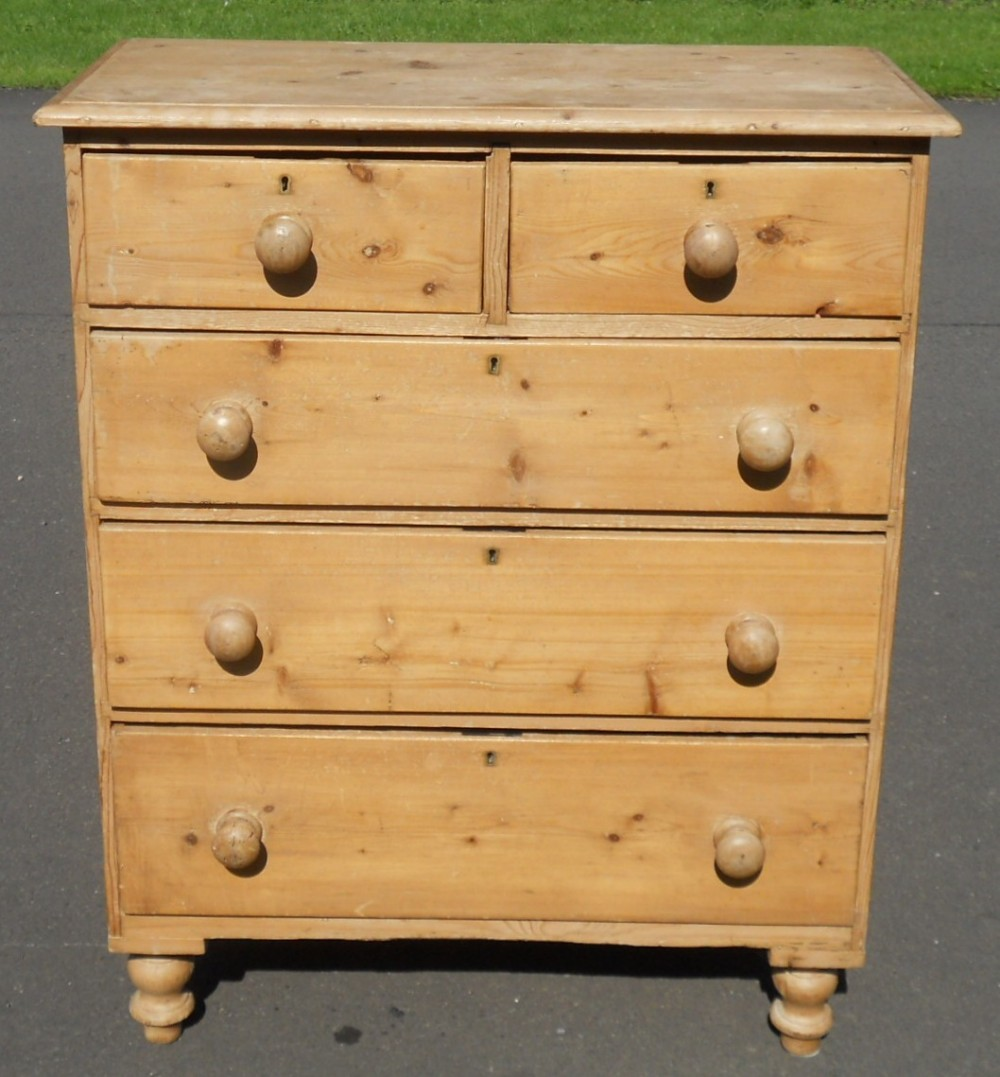 Victorian Stripped Pine Chest Of Drawers 361438