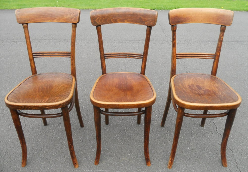 Three Bentwood Cafe Chairs By Thonet