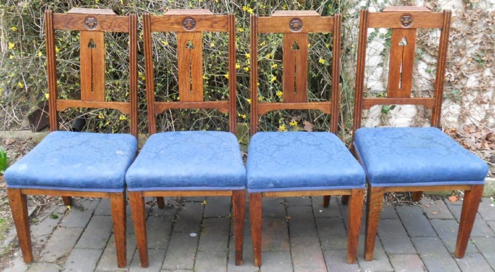 Set Of Four Art Nouveau Dining Chairs 381527 Sellingantiquescouk