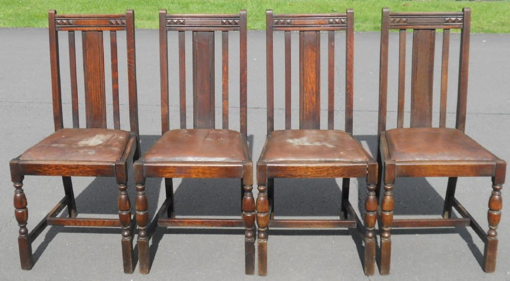 set of four highback dining chairs