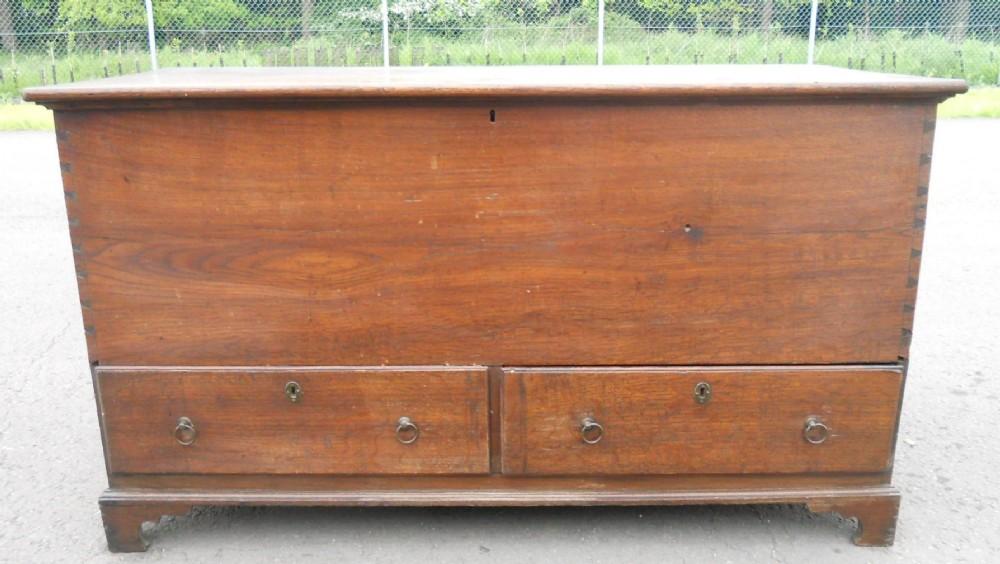 georgian oak mule blanket chest