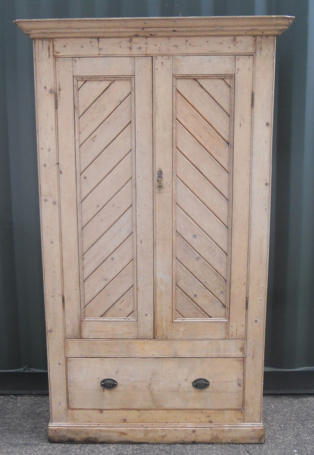 Edwardian Narrow Pine Hanging Wardrobe 411040 Sellingantiques Co Uk