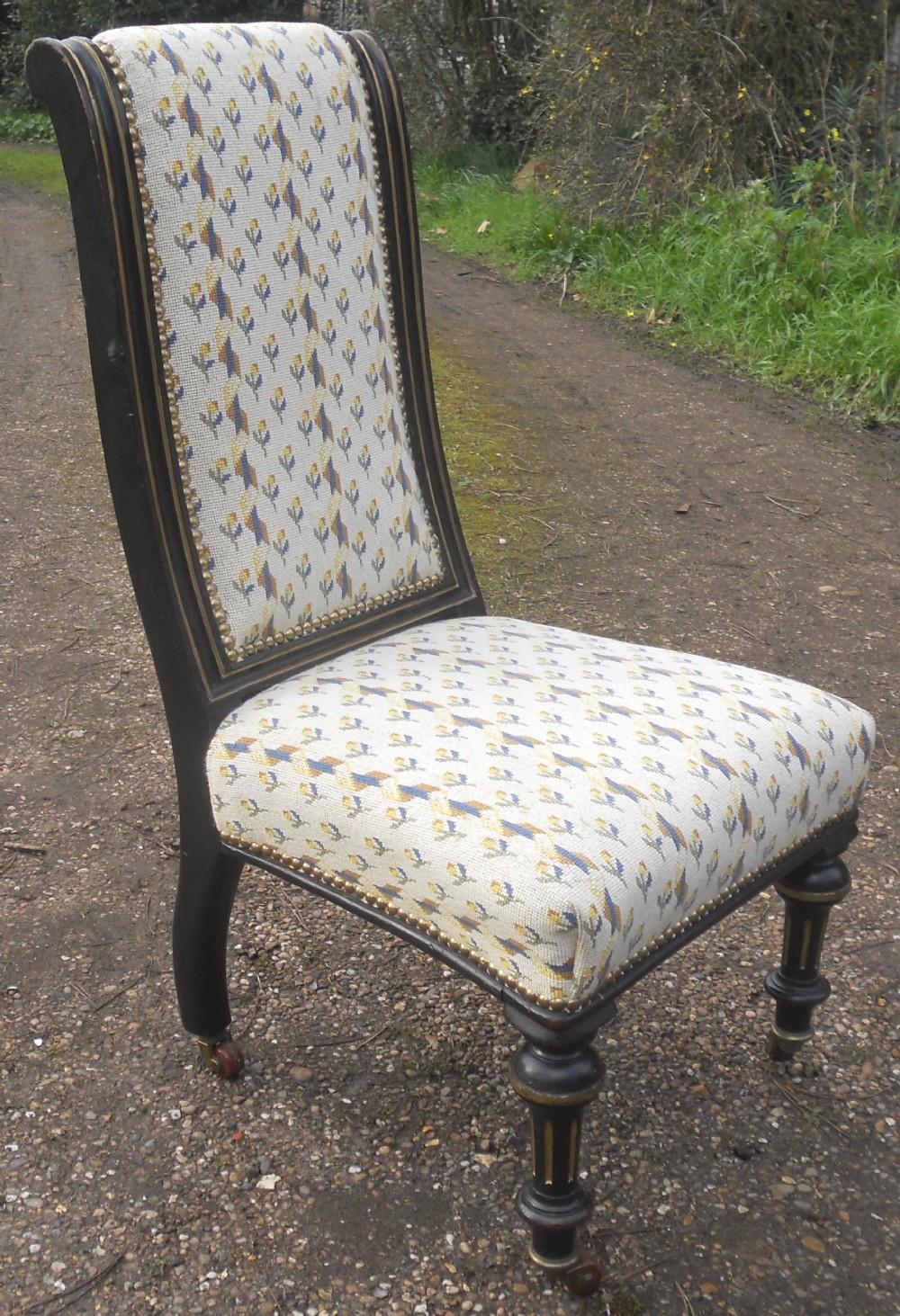victorian aesthetic movement nursing chair