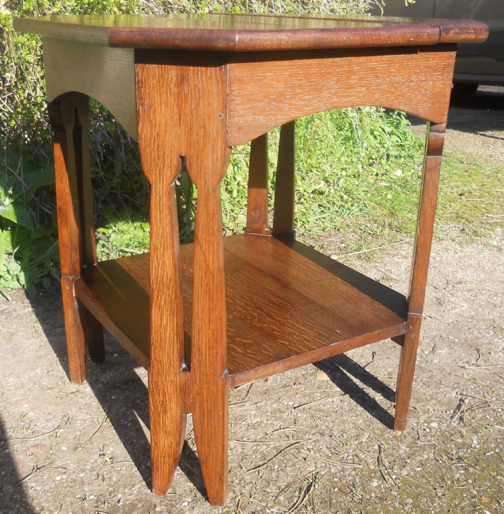 arts craft oak centre table